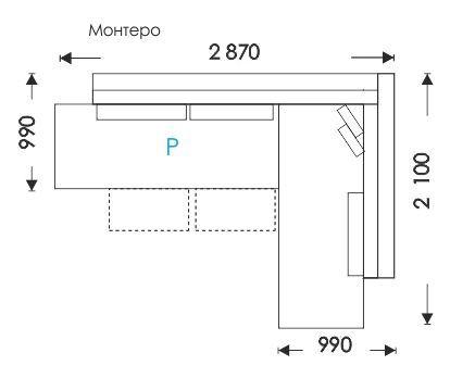 Схеми розкладання Монтеро Кут